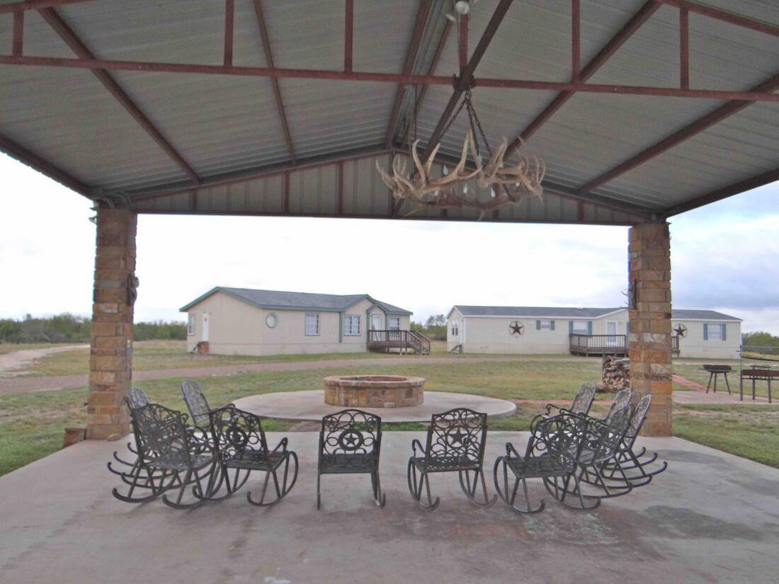 RV firepit to houses